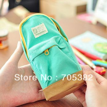 Cute backpack design pencil bag,school Canvas pencil case, kawaii  Stationery items(ss