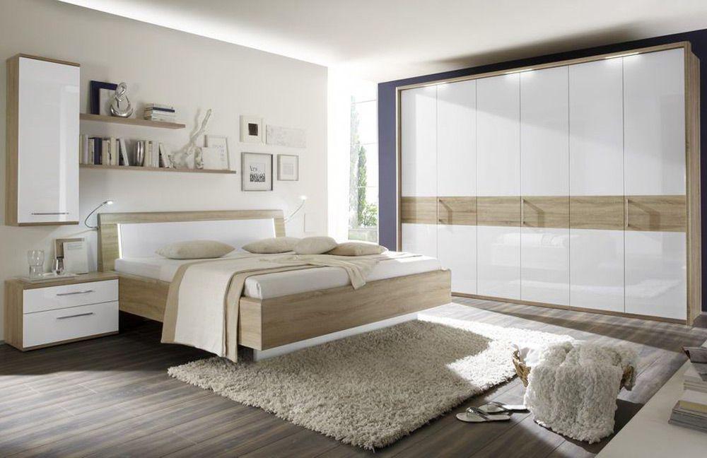 Hochglanz Schlafzimmer ~ Stella von forte schlafzimmer sandeiche weiß hochglanz