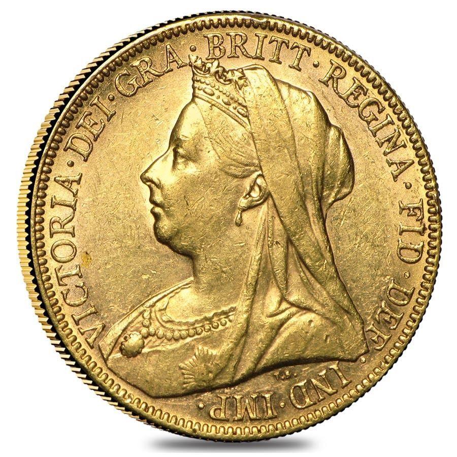 1893 1901 M Australia Gold Sovereign Victoria Veil Head Avg Circ Gold Sovereign Gold Coins Coins
