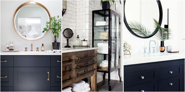 Baños decorados en negro Baños Pinterest Fresco