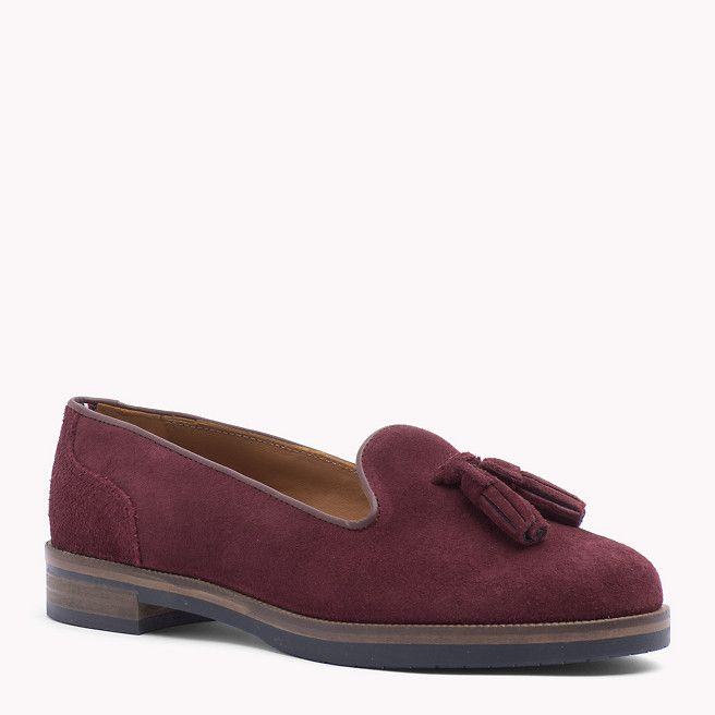Tommy Hilfiger Suede Tassel Shoe - zinfandel/midnight (Red) - Tommy Hilfiger Loafers - main image