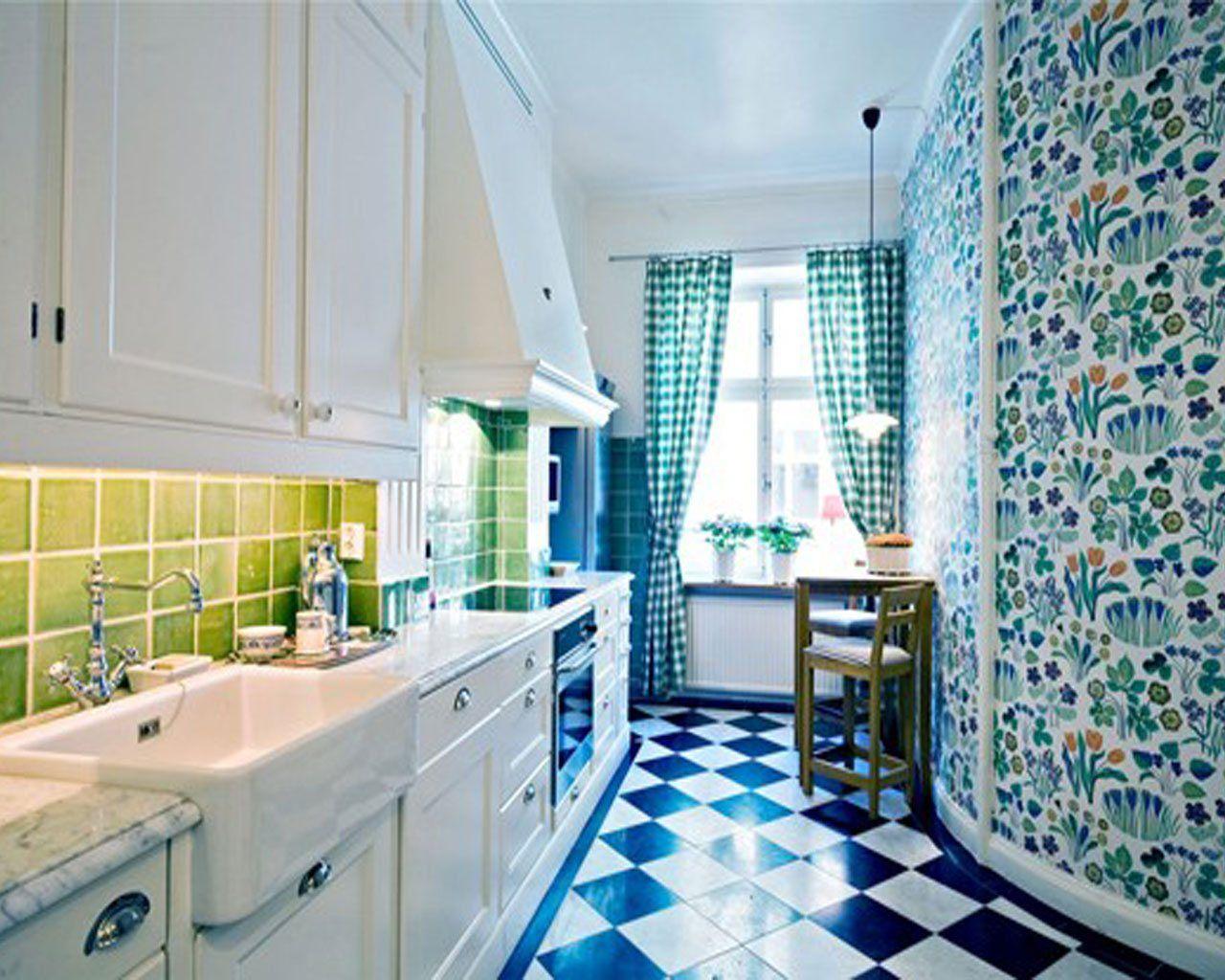 + Helle, Fett und Blau, Bunte Küchen Präsentieren Sie die