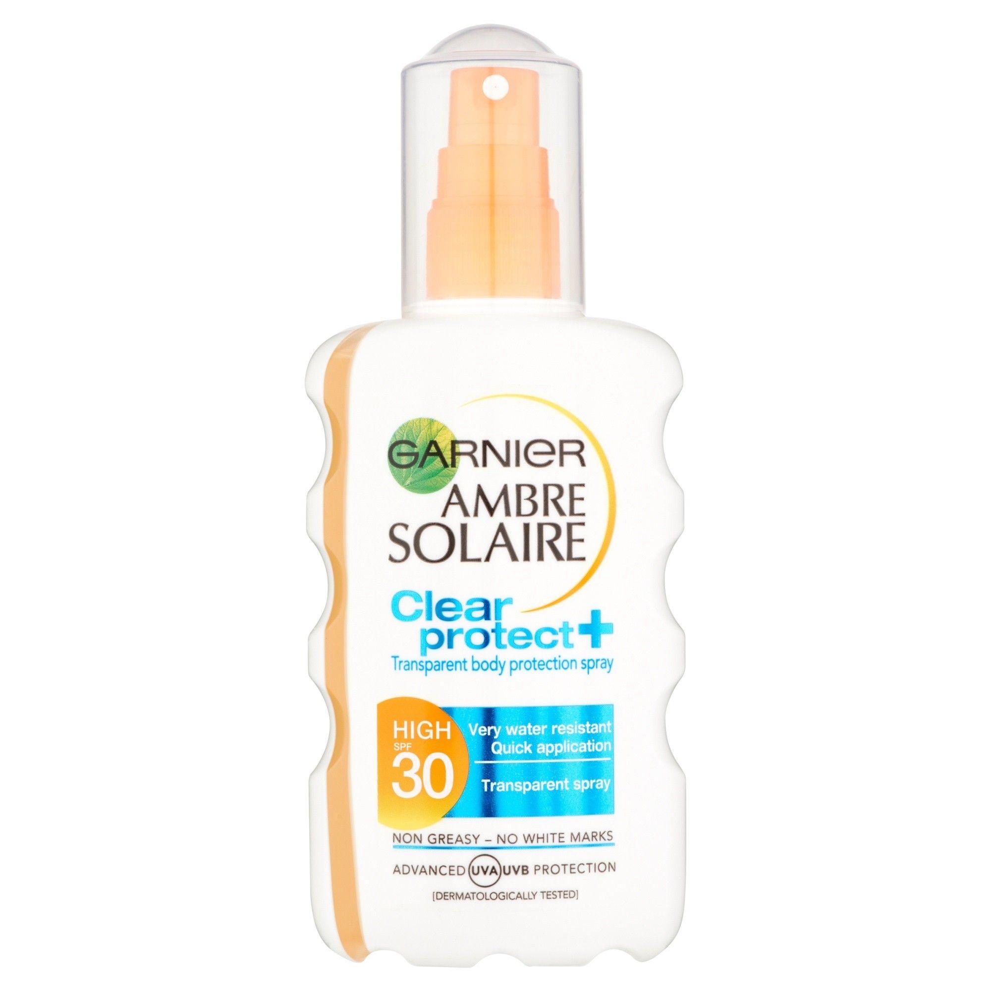 Garnier Ambre Solaire Clear Protect Sun Cream Spray SPF30
