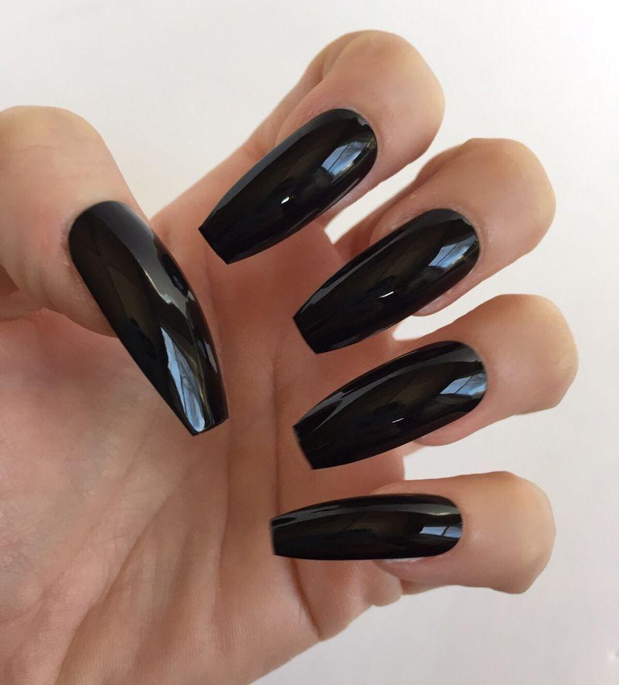 Black Ballerina Nails   Best Nail Designs 2018