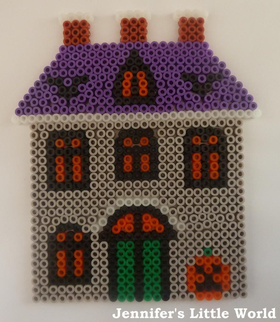 Jennifer's Little World blog - Parenting, craft and travel: Halloween Hama Bead House