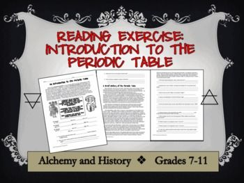 history of the periodic table reading activity - Periodic Table Discovery Activity