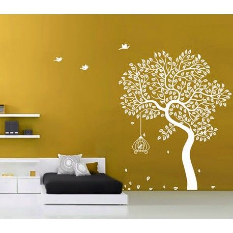 5345e1cc8 Autumn Tree And Birds wall decal - Kcwalldecals  Buy wall decals and wall  stickers online in India