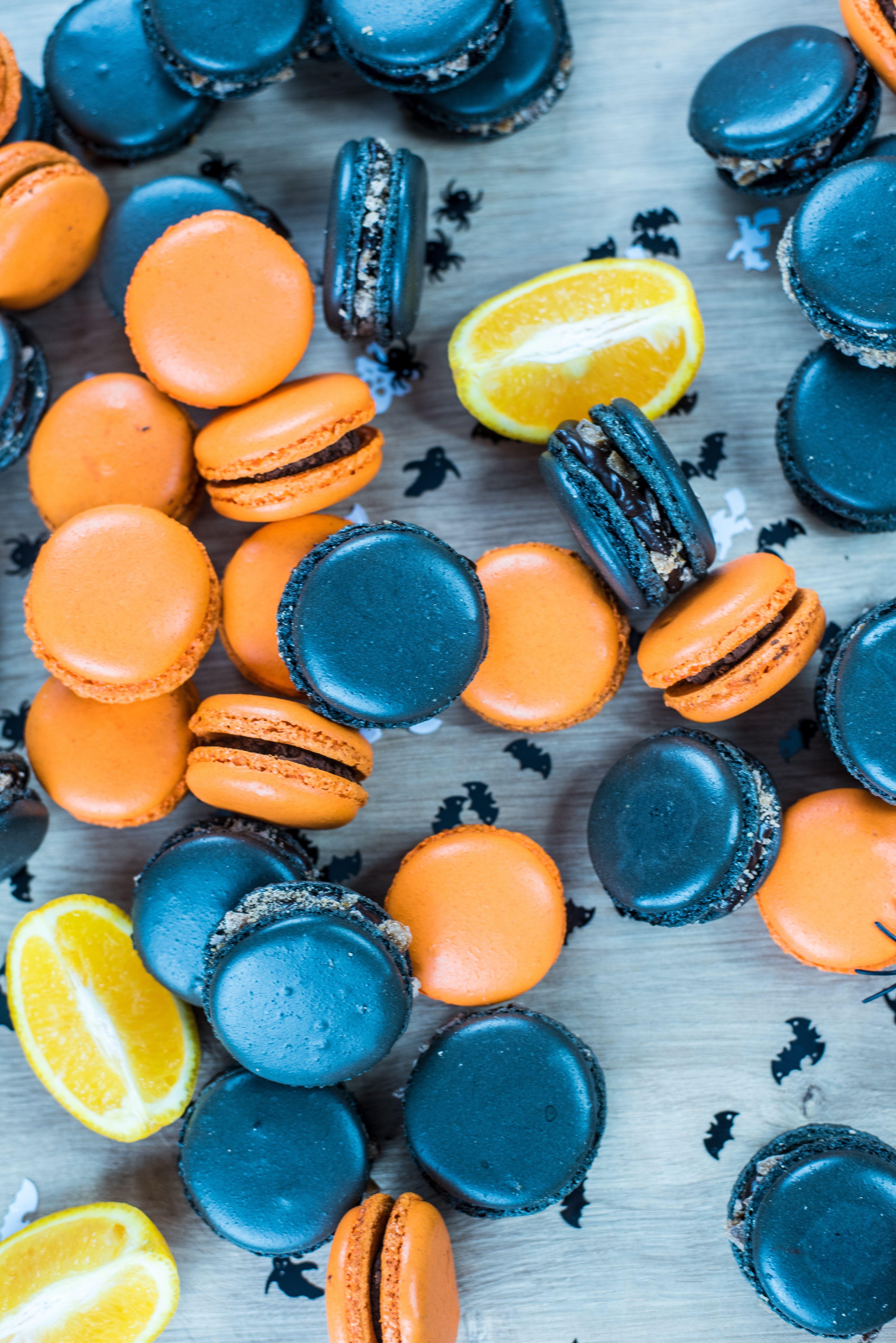 Halloween In Belgie.Halloween Food Inspiration Delicious Macarons In Blue And