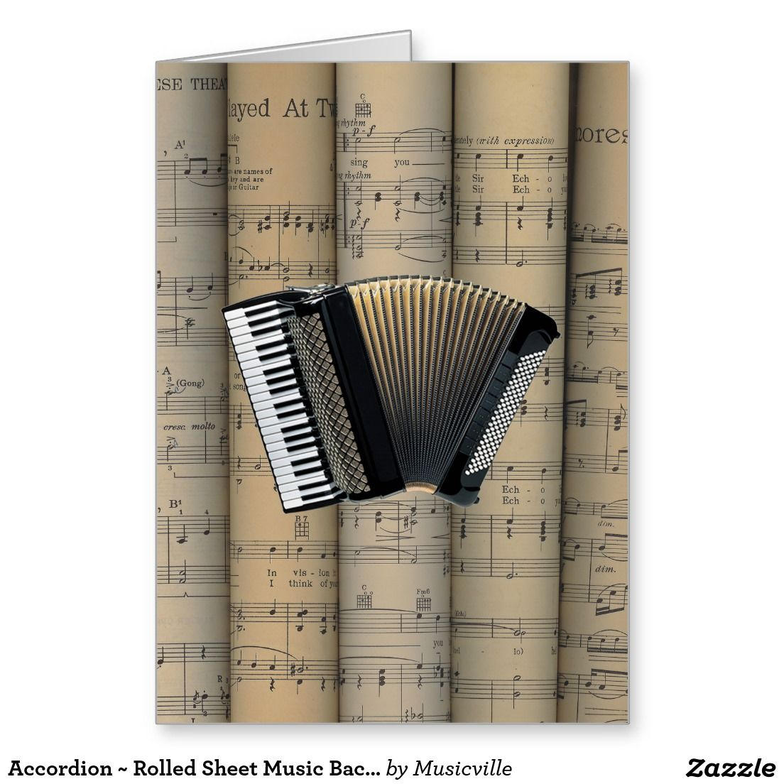 Accordion Rolled Sheet Music Background Music Pinterest