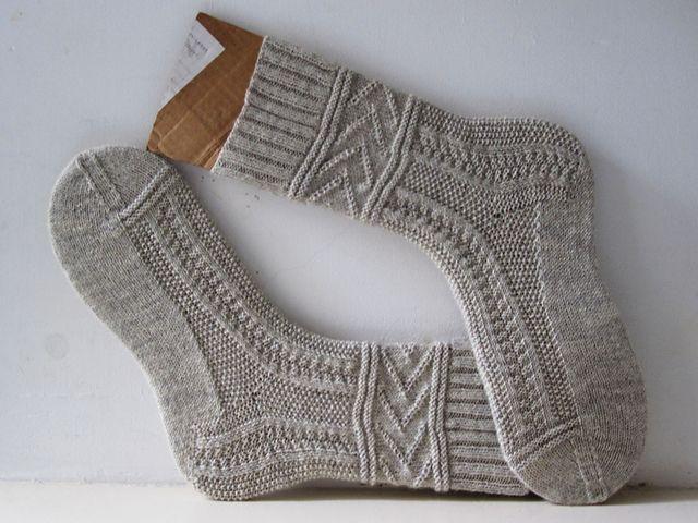 Free - use Gansey knit/purl patterns for socks Ravelry: Gladys ...