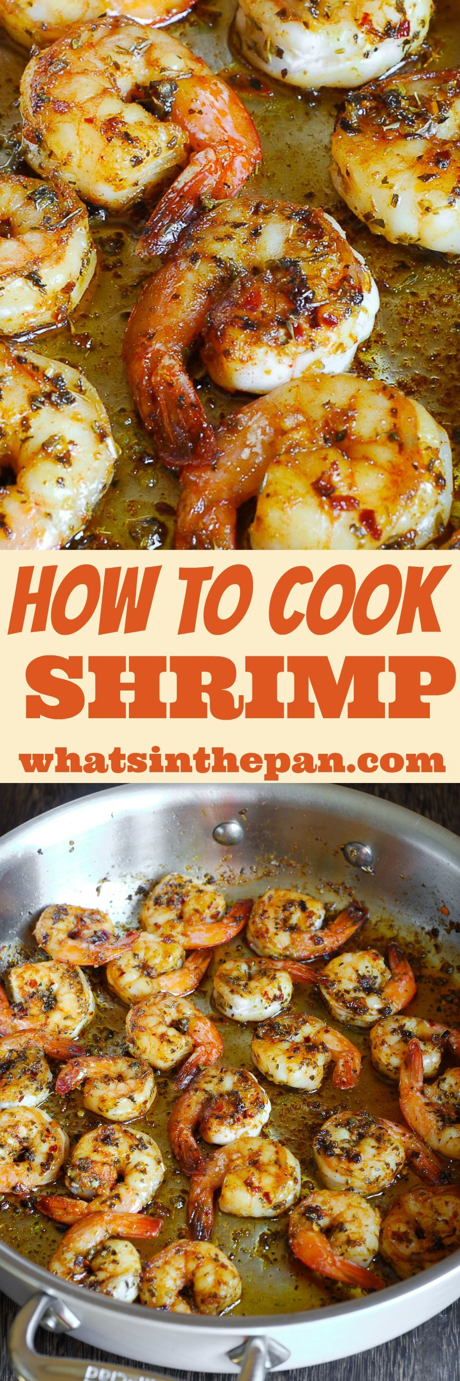 Learn how to cook shrimp on the stove with this easy to follow step by step photo instructions Great juicy shrimp cooked in the pan You wont believe how easy this can be...