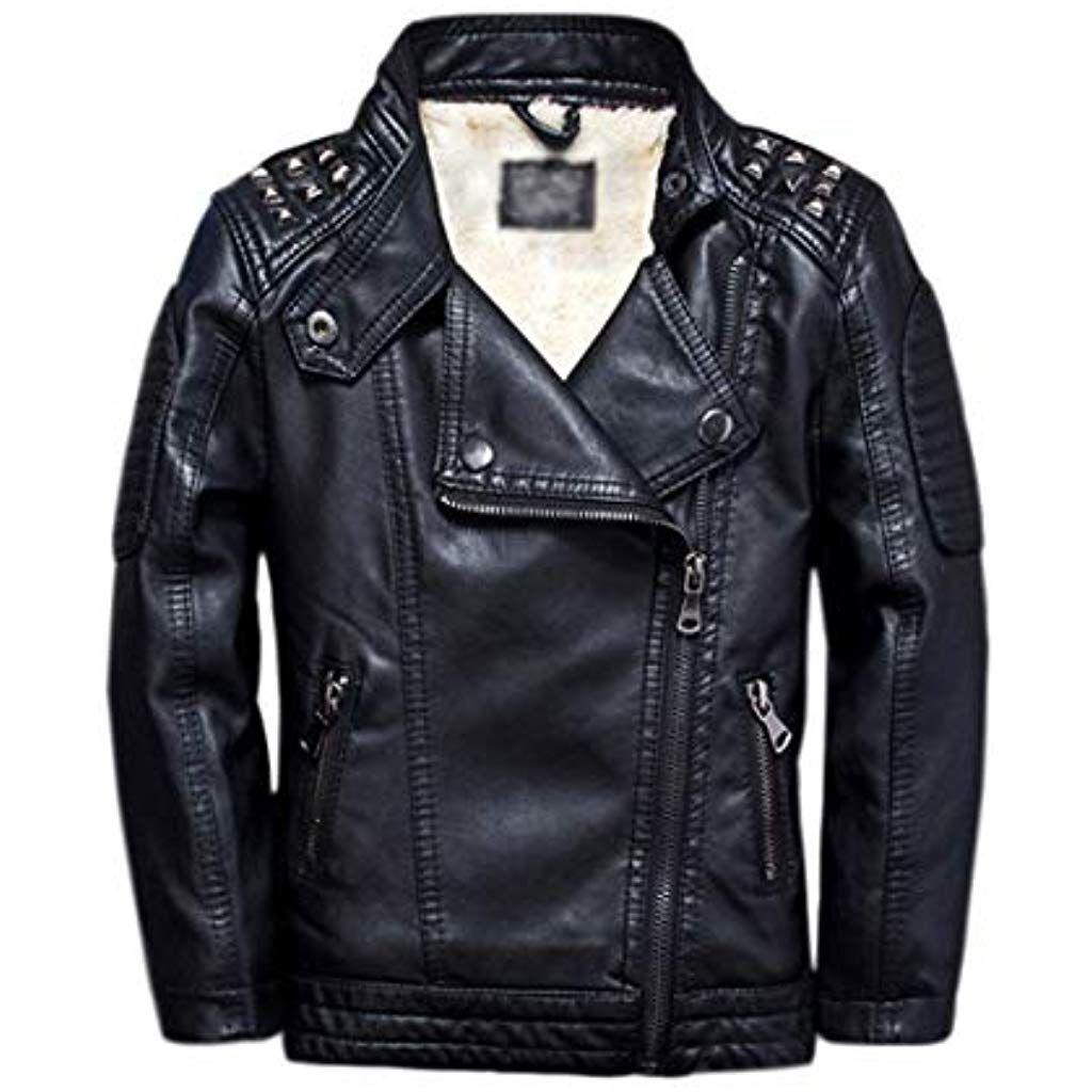 Bambini Ragazzi Harley Davidson pelle Giacca S Nero Basic Skins Pala   eBay