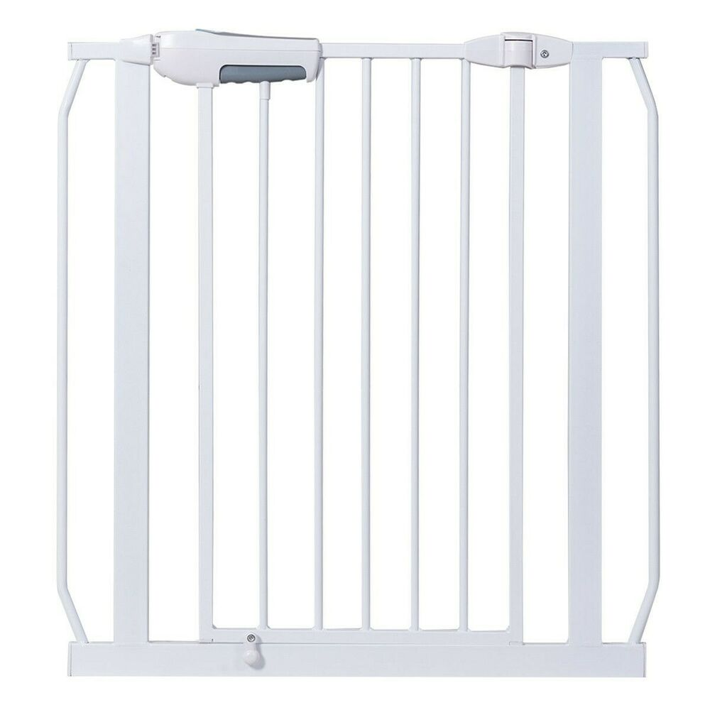 This safety gate is constructed by iron. it is sturdy