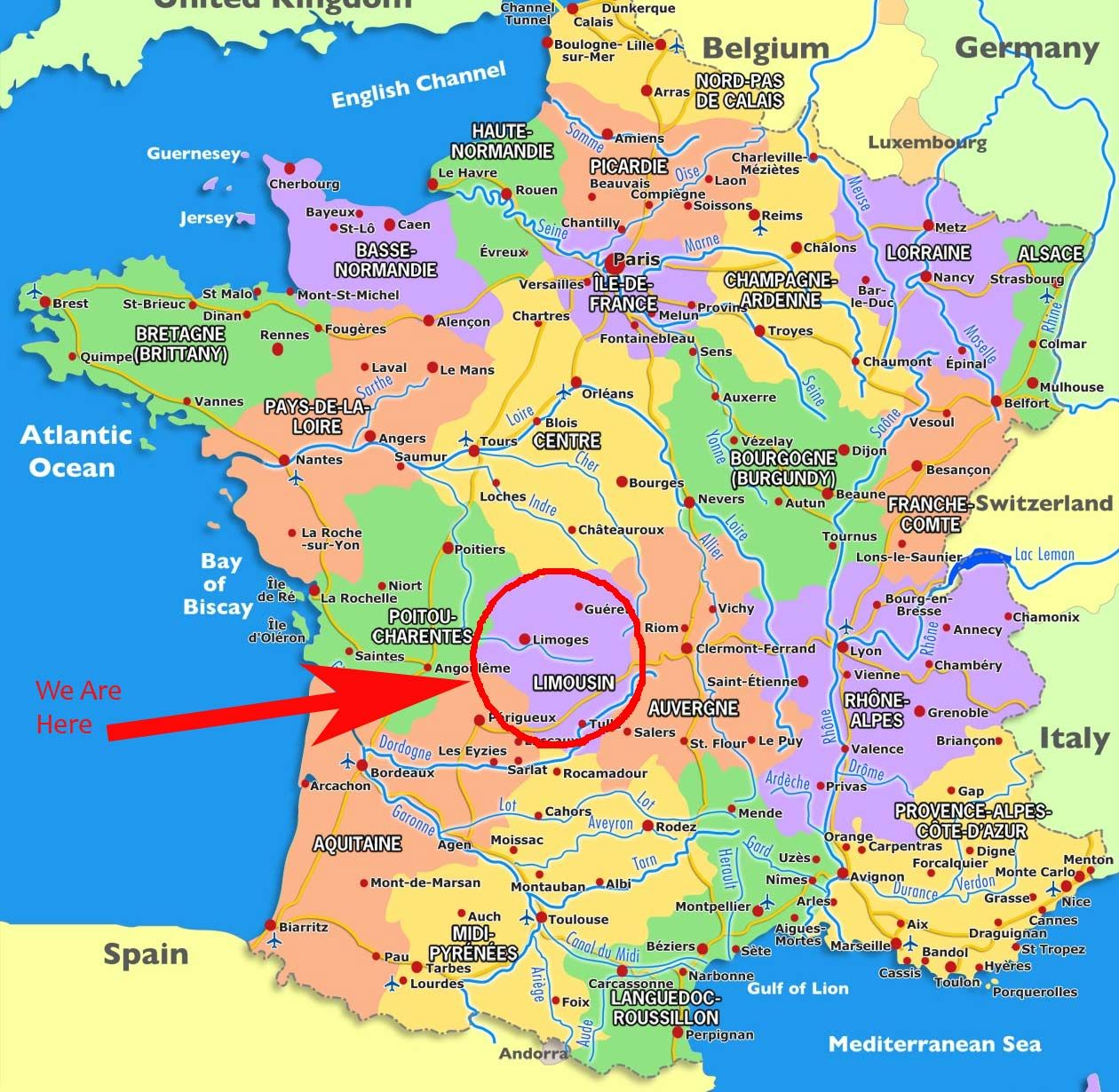 Maps France Map France Travel Best Vacation Destinations