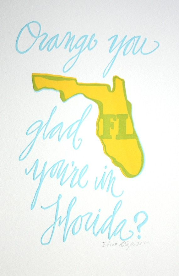 Florida Letterpress Print