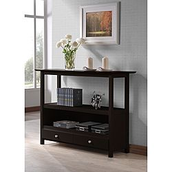 Cuccino Two Drawer Console Sofa Table 36 Inches High X 48 Wide 16 Deep Finish Materials Wood Veneer Hardwood Mdf Number Of