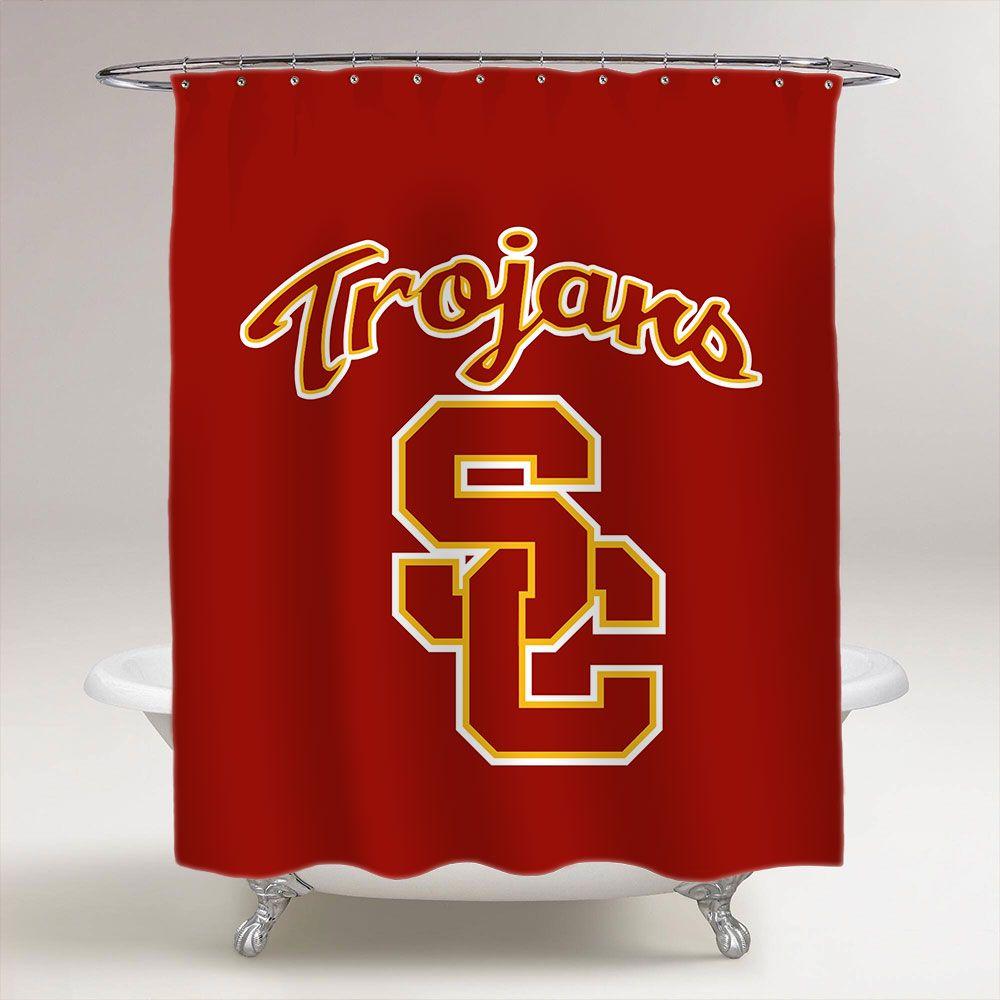 USC Trojans College Football Bathroom Shower Curtain