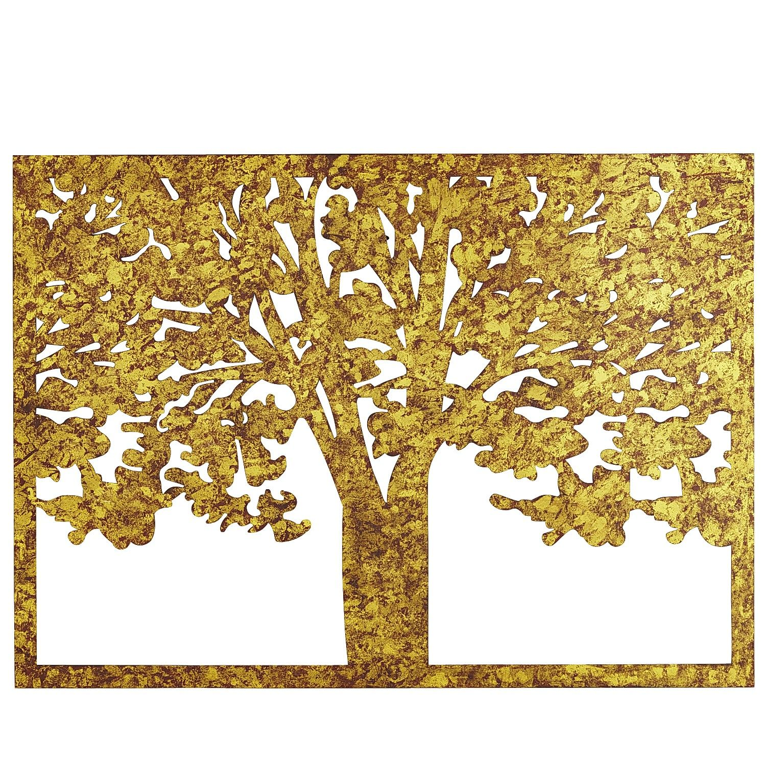 Etched Metal Tree Silhouette Wall Decor