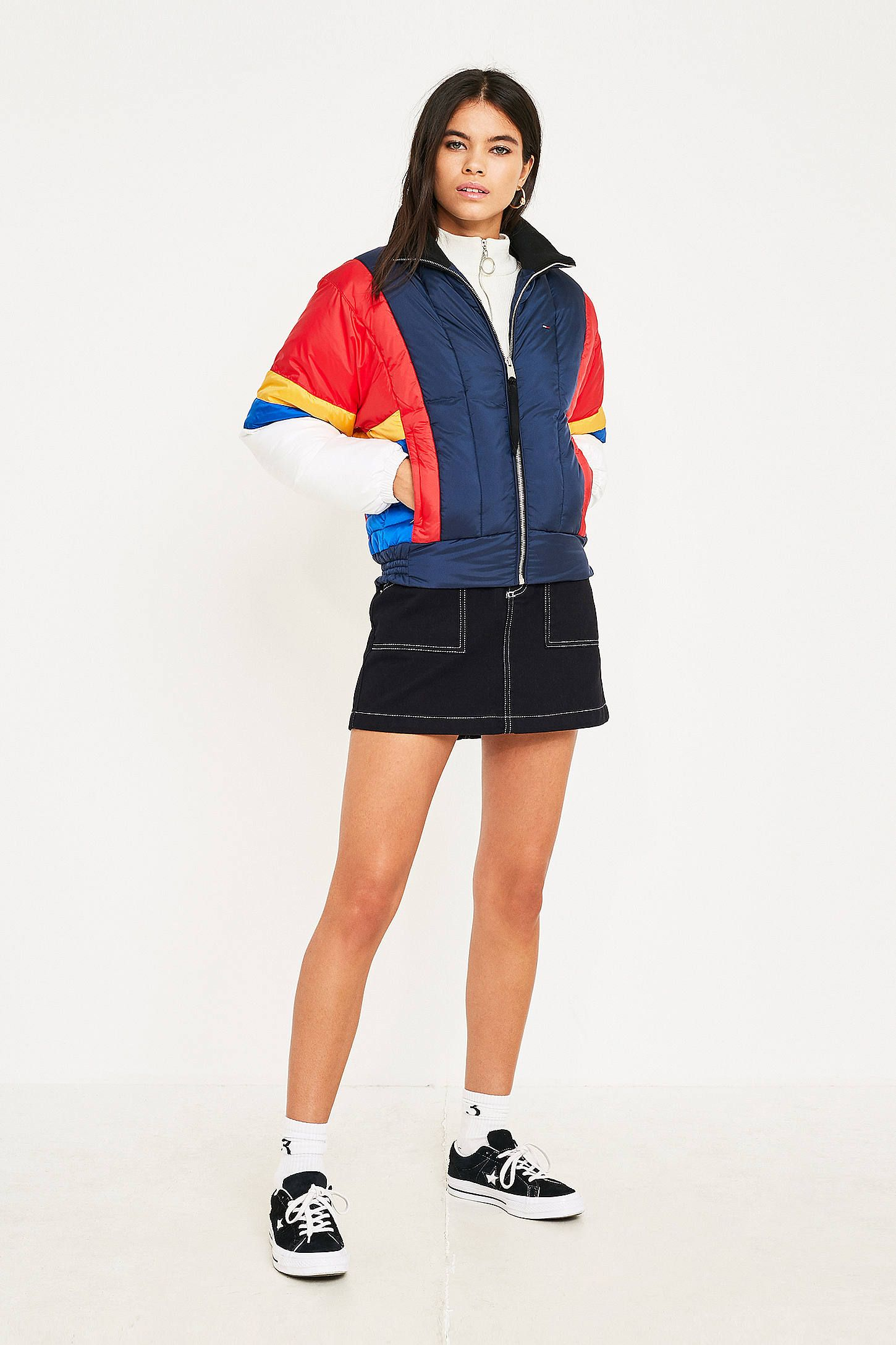 5b8c049a4a3 Tommy Jeans Colourblock Puffer Jacket | PADDED JACKETS AW19 | Puffer ...