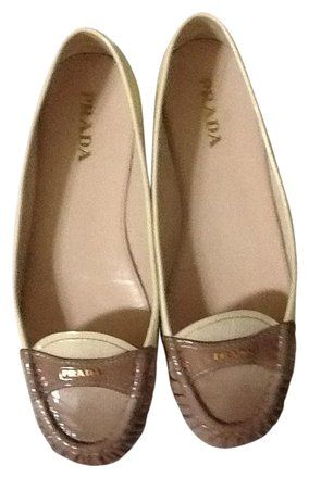 6acd488e7b8d4 Prada Beige Ombre Loafers Chic Flats Size US 7.5 Regular (M
