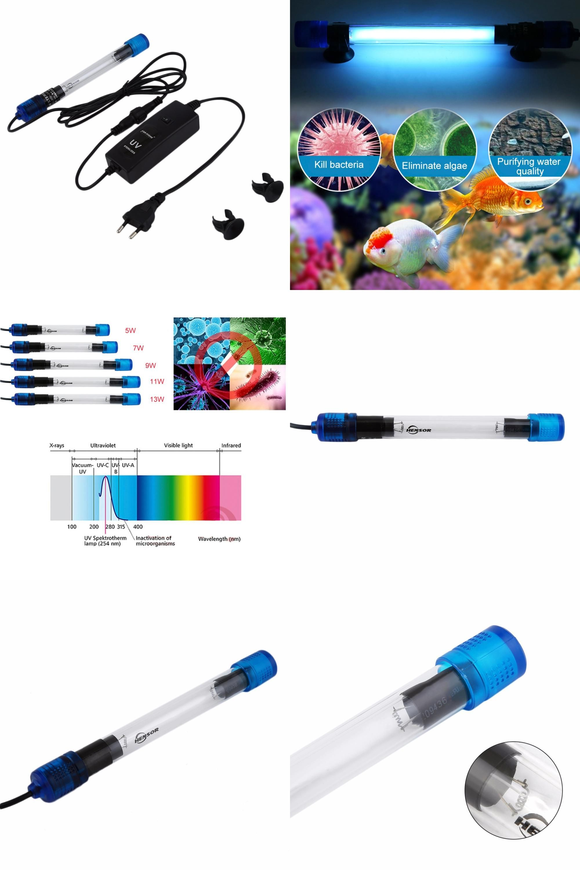 Visit To Buy 5 Types Uv Germicidal For Aquarium Ultraviolet Sterilizer Lamp Submersible Diving Use Radiation Resistant Fi Coral Tank Ultra Violet Submersible