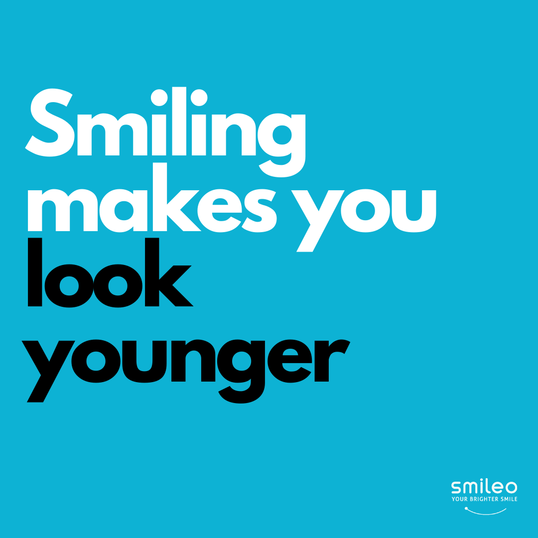 Did you know that Smiling Makes You Look Younger? Go ahead, smile more ;) #Brighterteeth #smileo #TeethWhitening #OralCare #Beauty #BeautyProducts #NaturalProducts #AllNatural #AtHomeWhitening #BrighterSmile #VeganProduct #OralCosmetics #CrueltyFree #CrueltyFreeBeauty #CrueltyFreeCosmetics #OralCareRoutineBeautyProducts