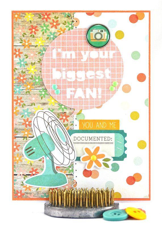 Biggest Fan Card by #thecardkiosk #biggestfancard #imyourbiggestfan #inspirationalcard #pungreetingcard #punnycard #humorouscard #handmadecard #funnygreetingcard #etsyshop #etsyseller #etsy #forsale #shophandmade