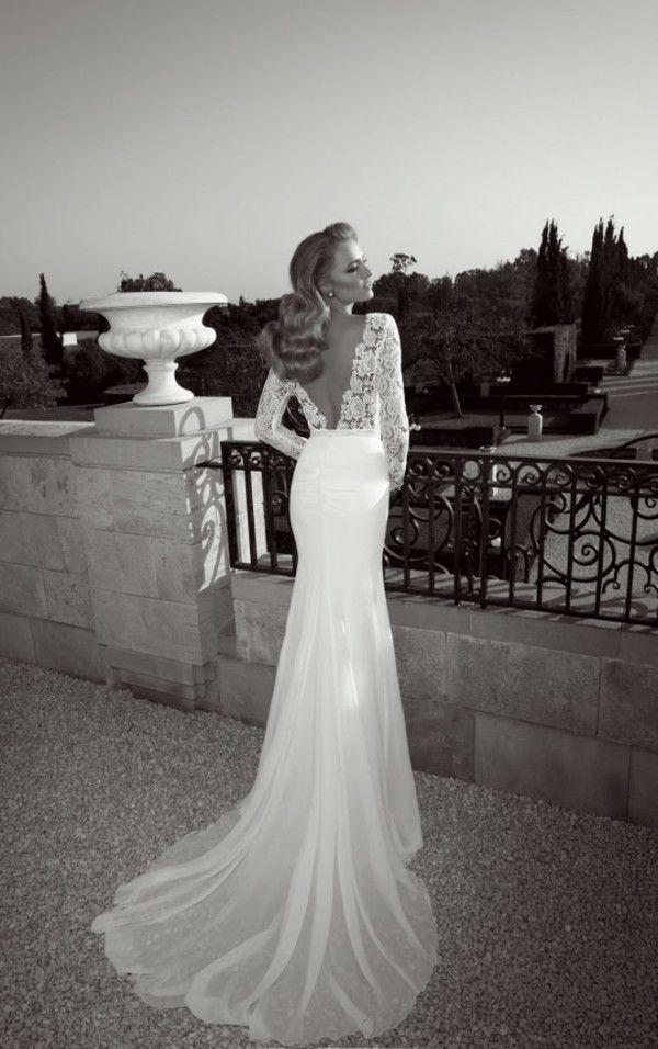 Lace White Dress Backless Beautiful