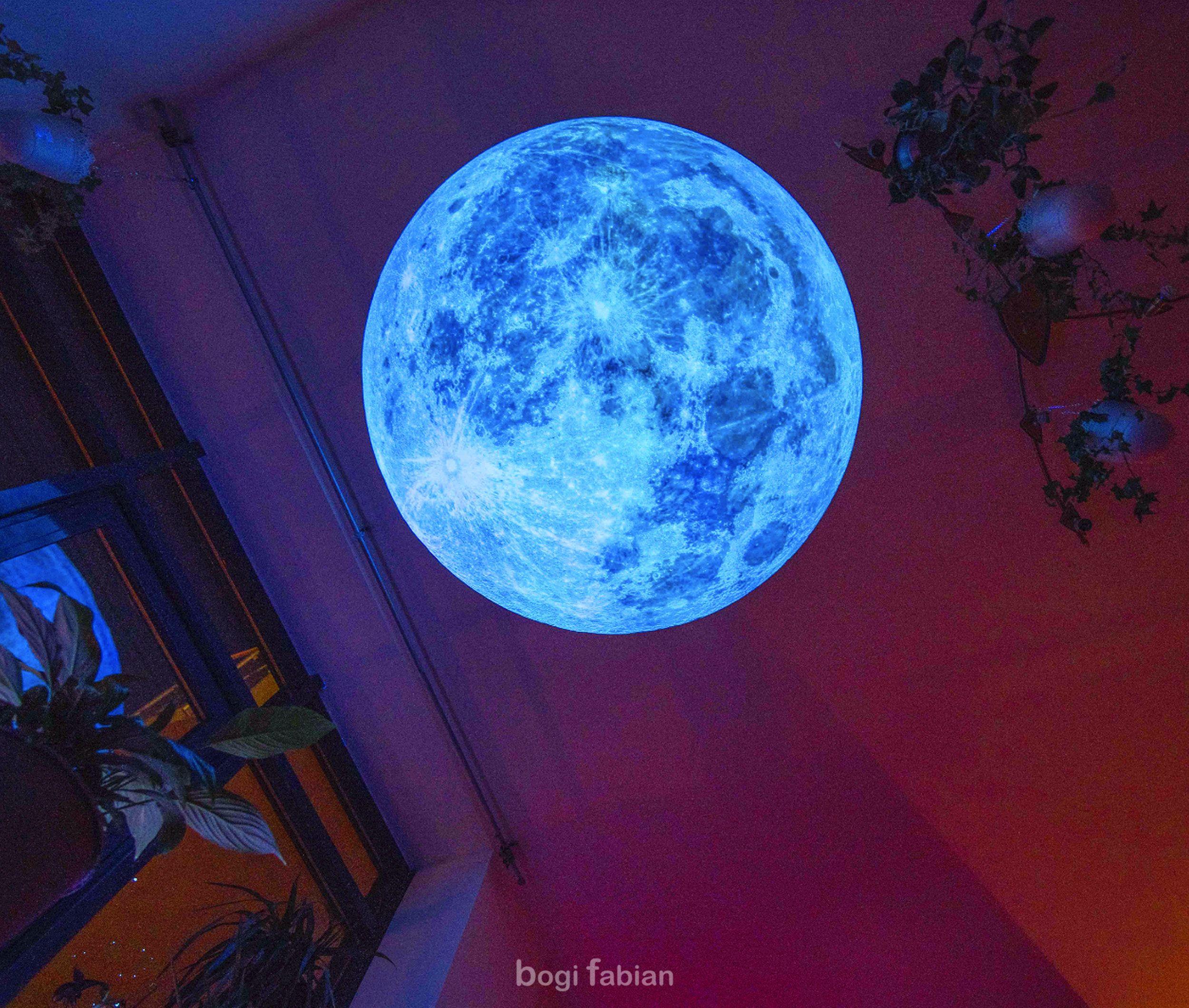GLOWINTHEDARK MOON BLUE MOON PRINT GLOW IN THE DARK PRINT