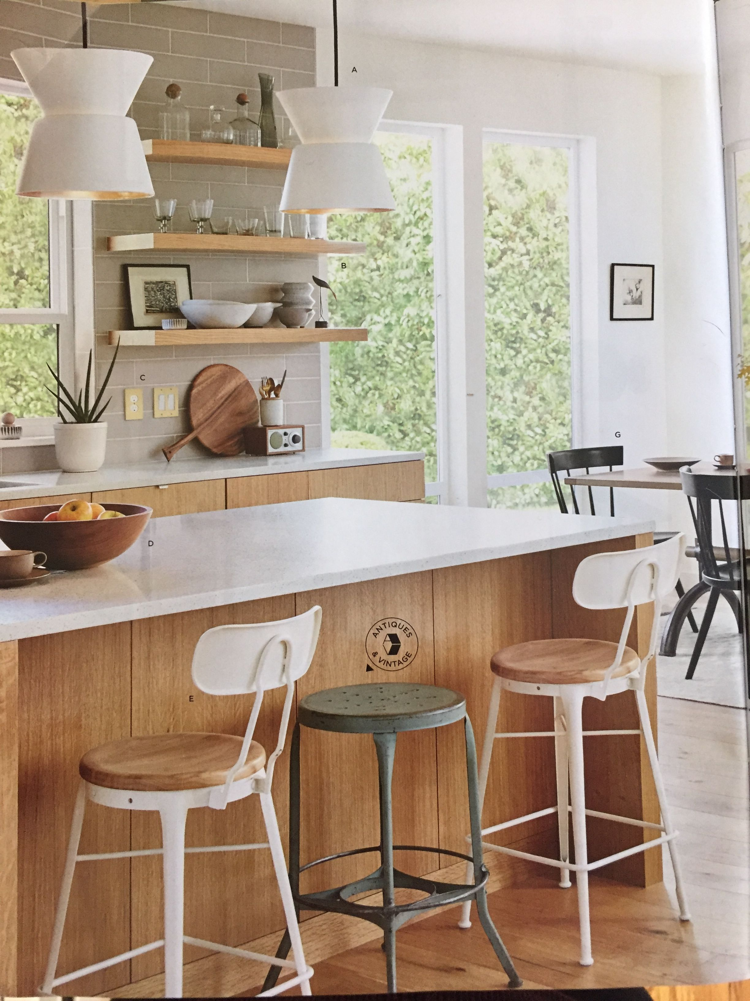 Love These Wood Cabinets And Floating Shelves   From Rejuvenation Early  Spring 2018 Catalog.
