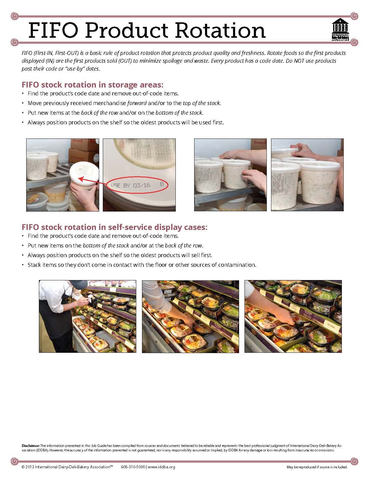 tcs food safety servsafe exam blog food safety food safety first in first out fifo product rotation develop your staff