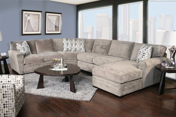 Pleasing Kanes Furniture Poseidon 4 Piece Chaise Sectional Room Evergreenethics Interior Chair Design Evergreenethicsorg