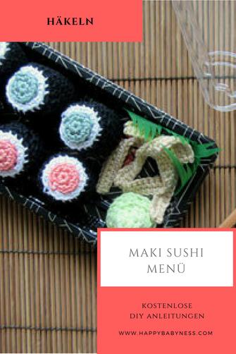 Kaufladen Zubehör Maki Sushi Kostenlose Diy Anleitung