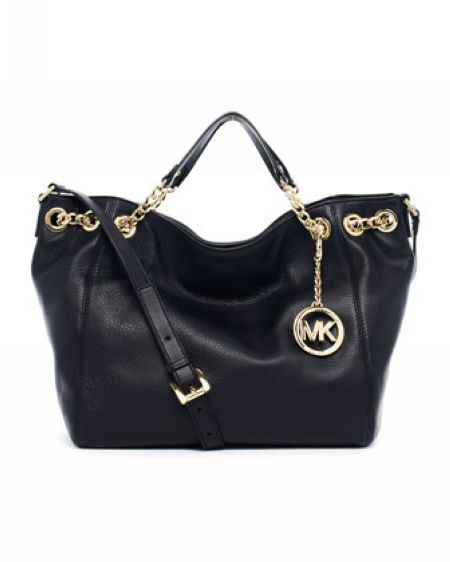 ad9cdd0116ce Michael Kors Jet Set Chain Medium Gather Shoulder Tote Black Leather. I need !