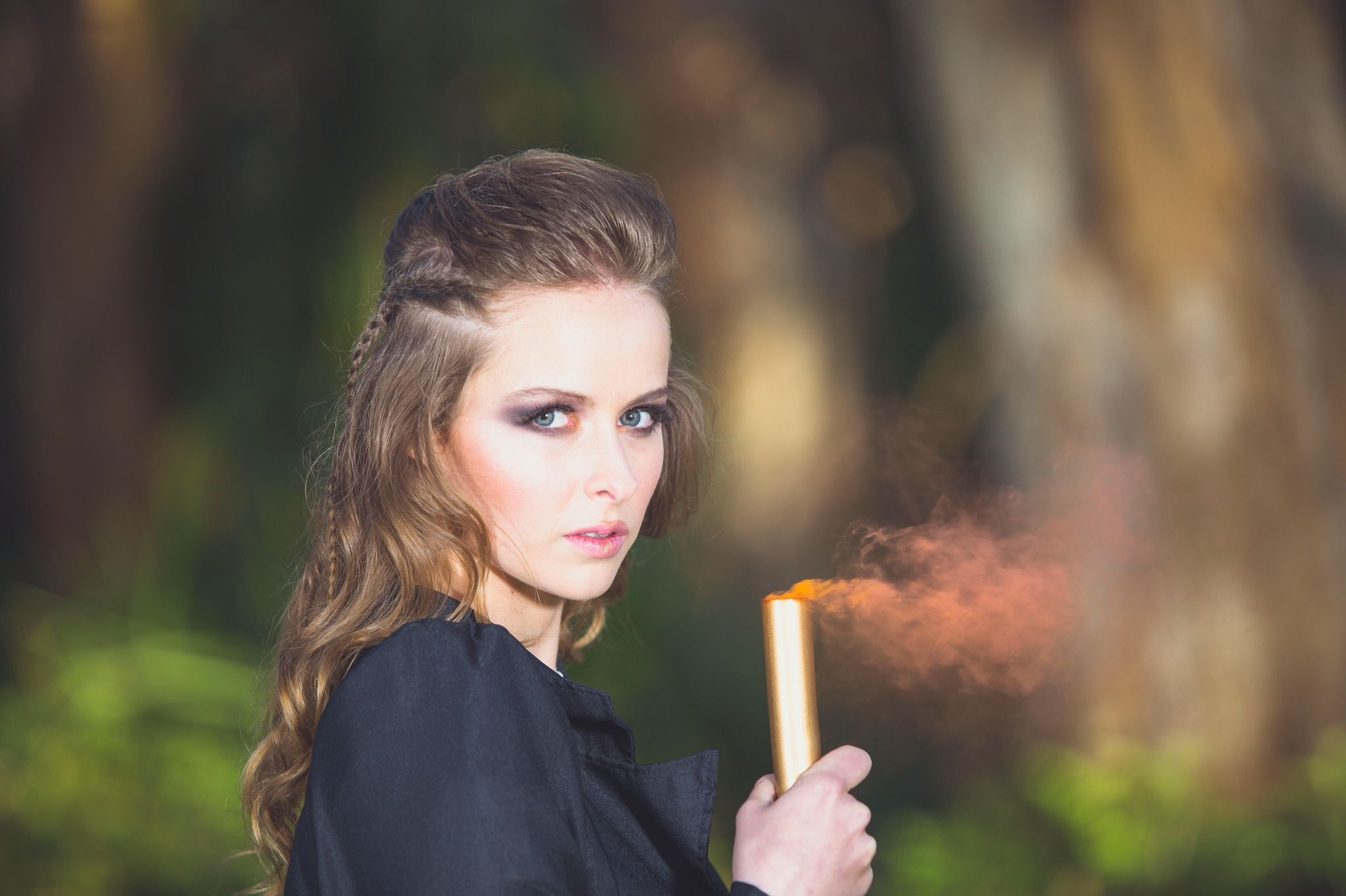 Smoke bomb shoot with gcimagery hair by naomi browner