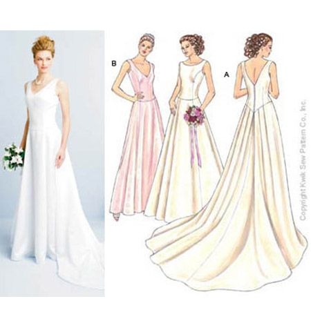 Gowns Kwik Sew K3401 (like view A...not sure about the back dipping ...