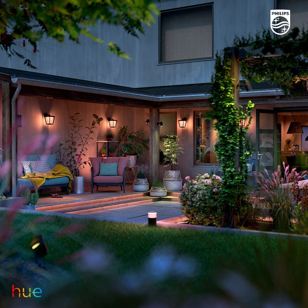 Porch Lighting Philips Hue Wall Lights And Led Strips Smart Outdoor Lighting Outdoor Lighting Hue Philips