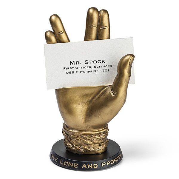 Things we saw today an at st for c a t s household products a bronze spock business card holder 3499 from thinkgeek via boing boing colourmoves