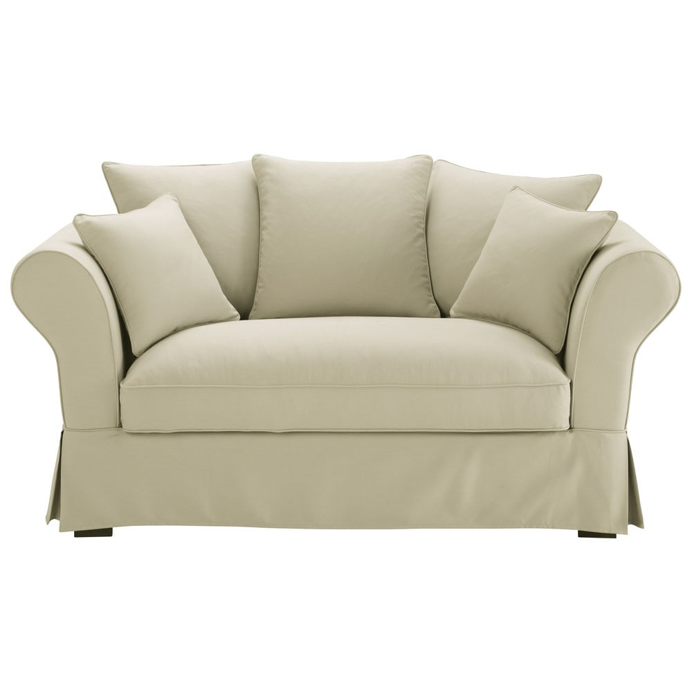 Canape 2 3 Places En Coton Mastic Sofa White Sofas Furniture