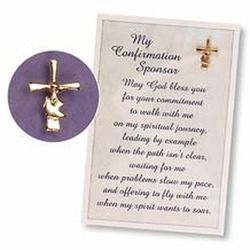 Confirmation Sponsor Pin And Card  Confirmation Communion And