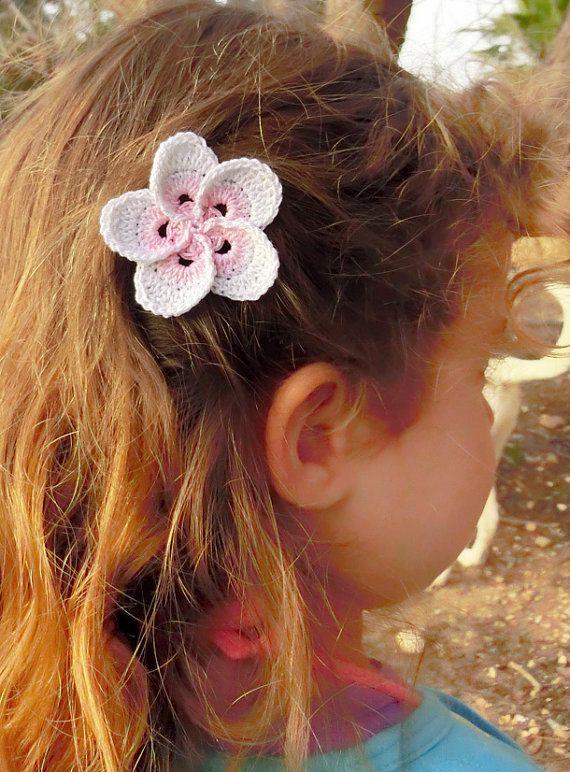 Plumeria Frangipani Flower Hair Clip Crochet Plumeria by goolgool ...