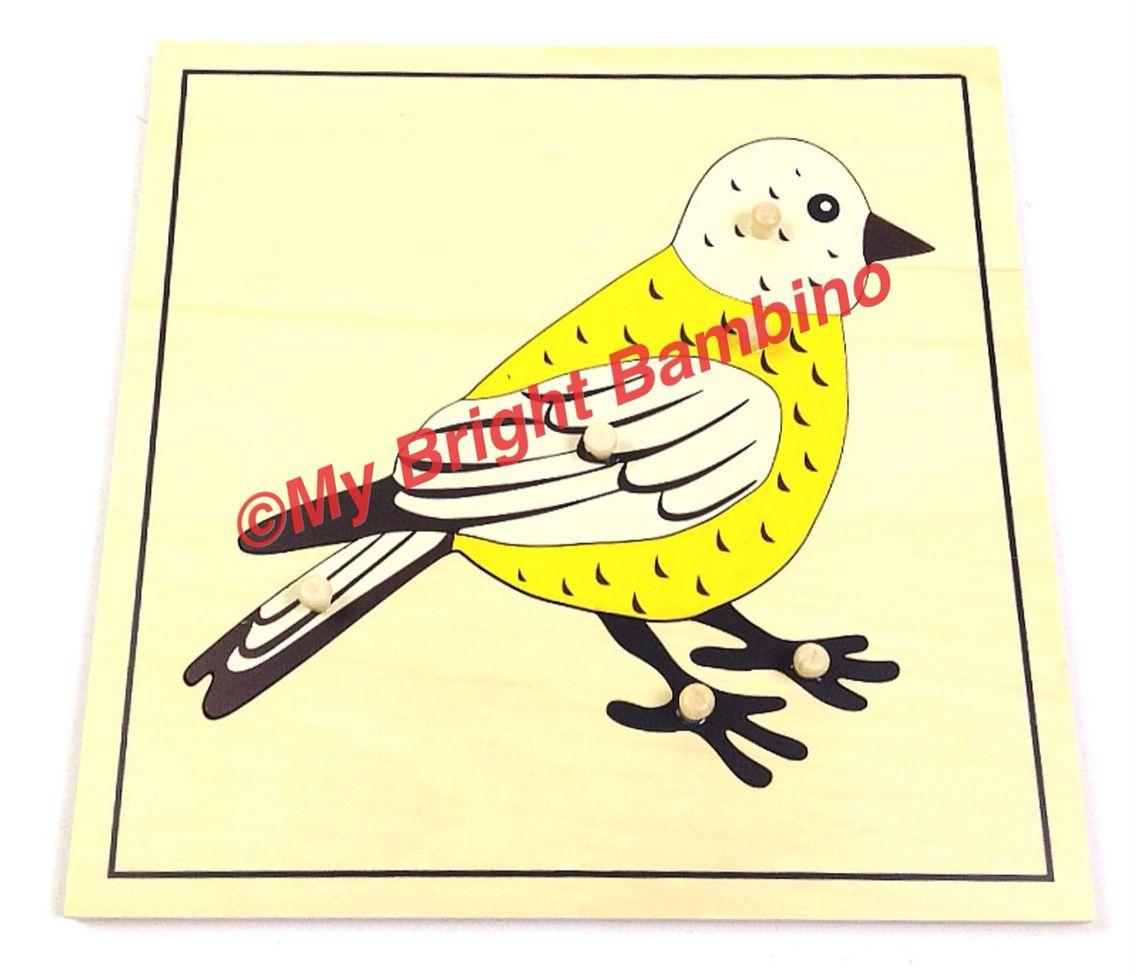 Bird Zoology Puzzle Montessori Brightbambino