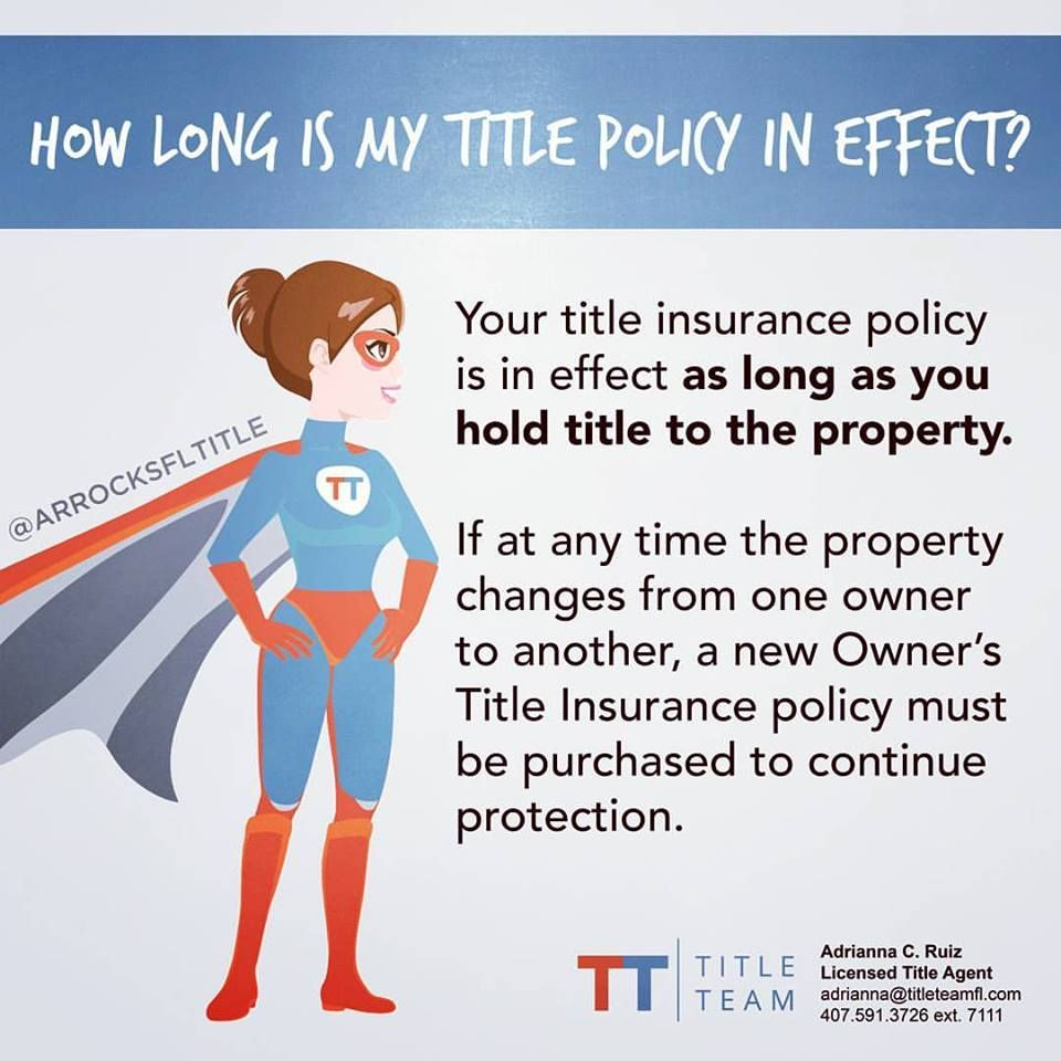 Title insurance doesn't expire! As long as you stay in the