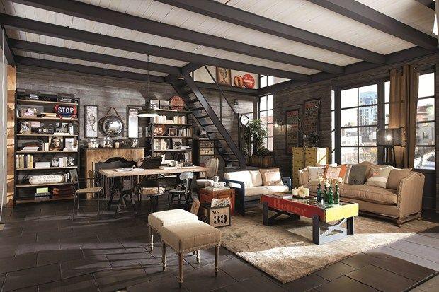 Shabby chic vintage industrial style dialma brown presenta le nuove collezioni dialma brown - Arredamento casa vintage ...