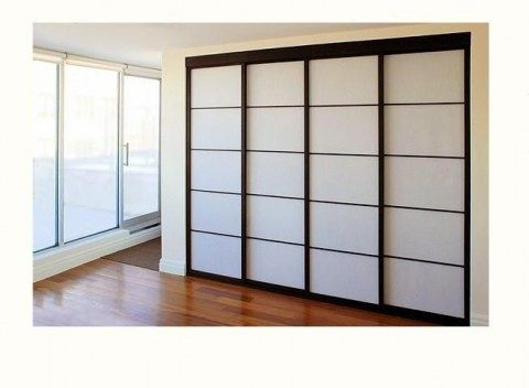 Bedroom Closet Doors (look Like Japanese Shoji Screens.