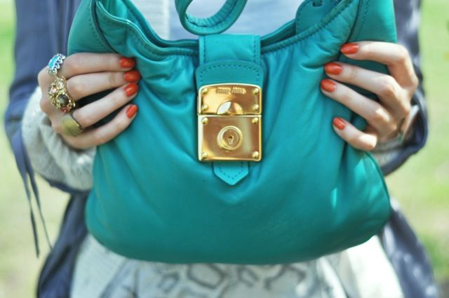 Orange and turquoise by Swedish Love Affair