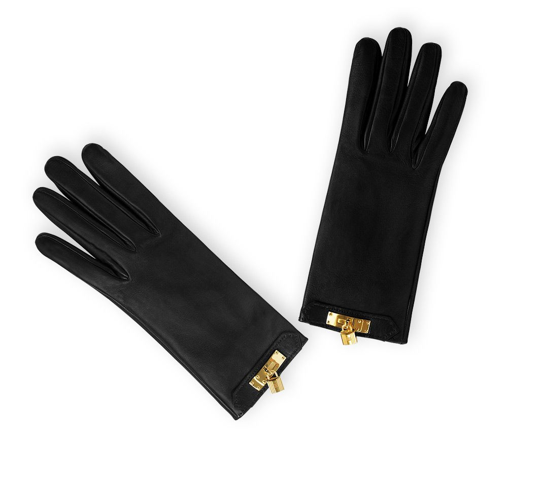 Ladies leather gloves australia - Discover The Herm S Soya Women S Black Lambskin Gloves With Silk Lining Gold Plated Metal On The Official Online Herm S Us Boutique And Enjoy