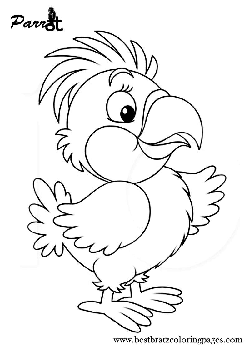 Free Printable Parrot Coloring Pages For Kids Bird