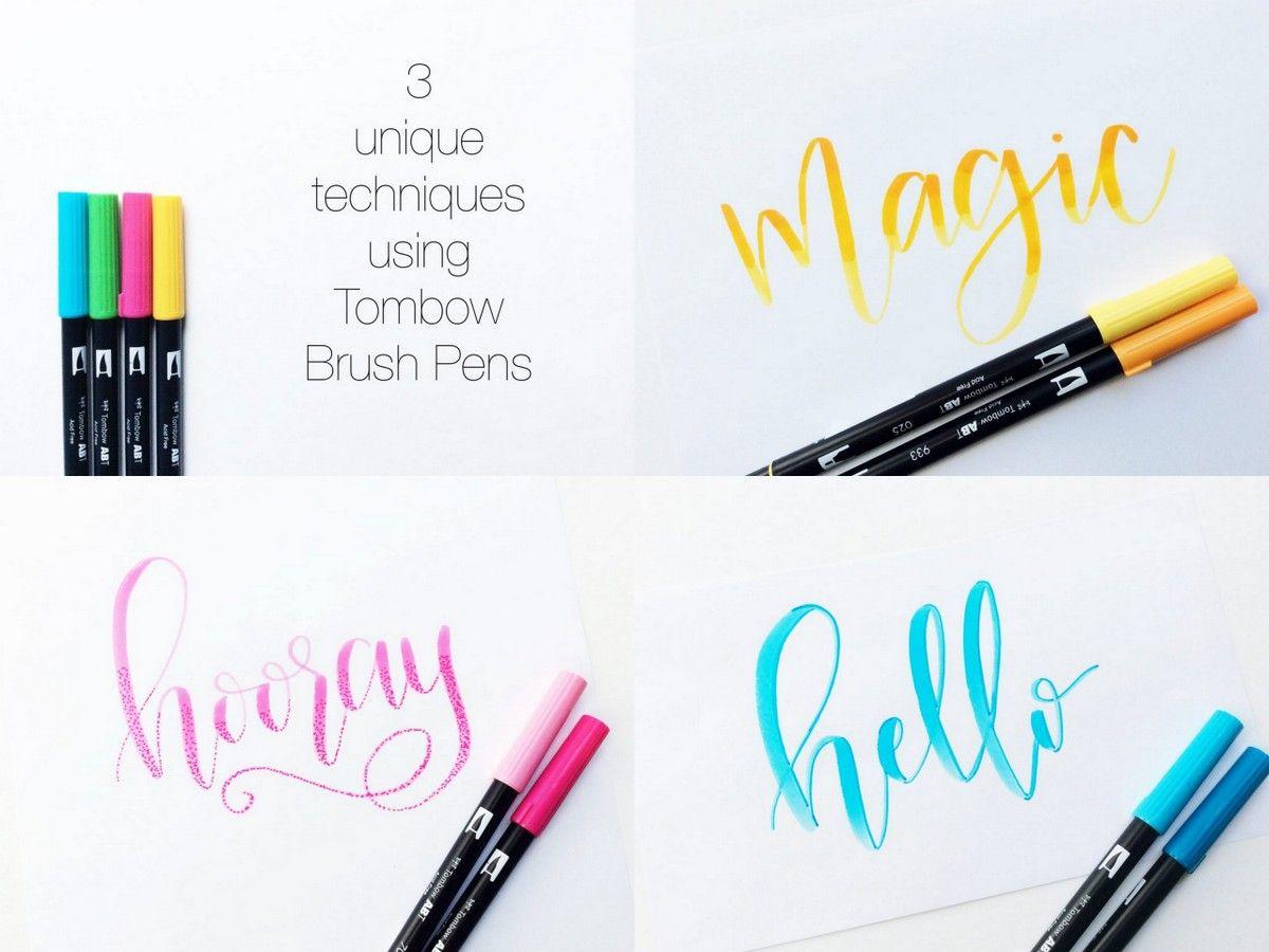 Hand lettering tutorials tombow brush pen
