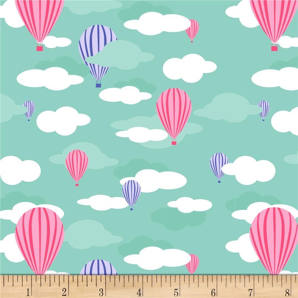 d35535a2375 Stof Fabrics Denmark Avalana Jersey Knit Hot Air Balloon Turquoise from  @fabricdotcom From Stof Fabrics